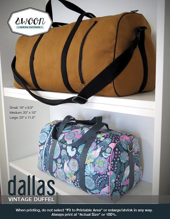 Swoon Patterns: Dallas Vintage Duffel  PDF Bag by SwoonPatterns