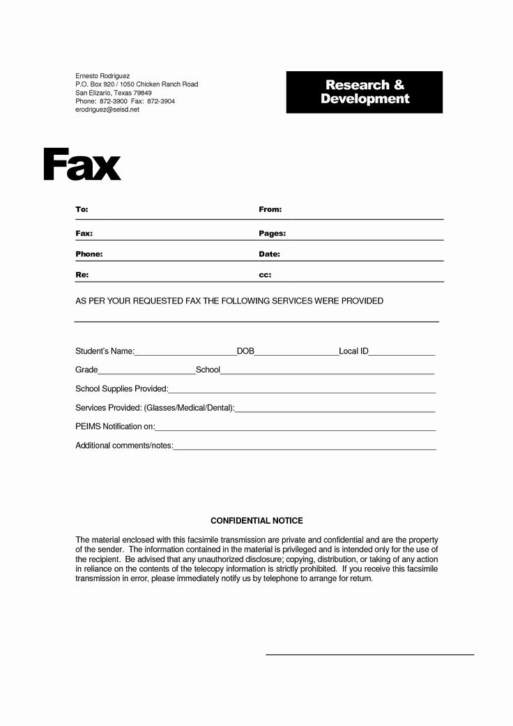 Best Of 8 Best Of Printable Fax Cover Sheet Confidential