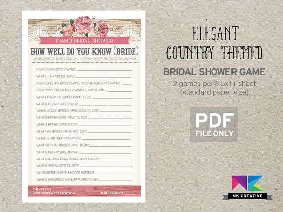 50 Best Personalized Bridal Shower Games Images On