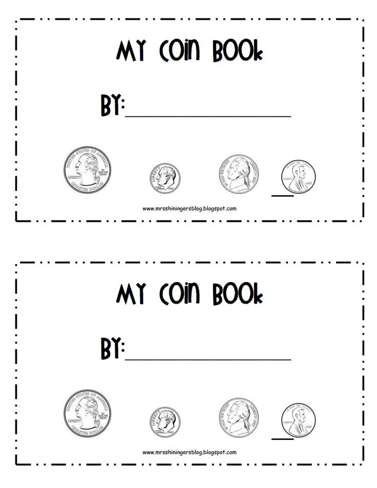 printable coin book for kindergarten