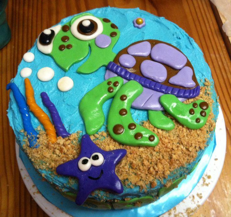 Birthday Turtle Cake