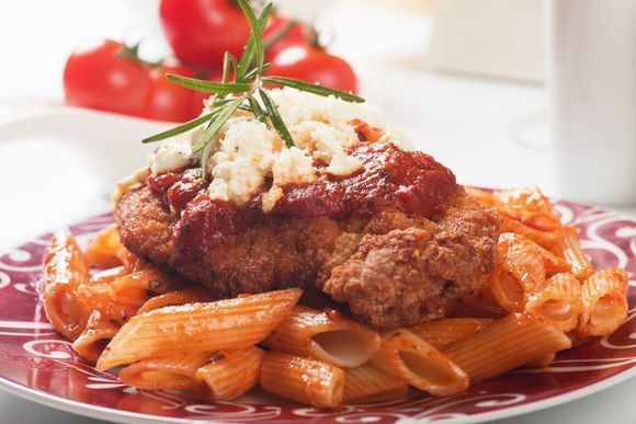 "New cooking site :12 Tomatoes"" Recipe:  Chicken parmesan"