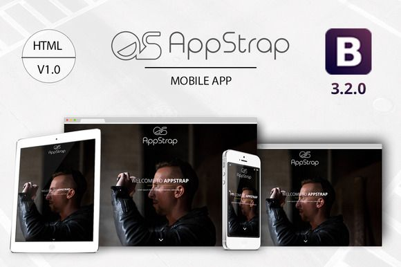 Check out AppStrap - Bootstrap App Landing Pag by Bhardwaja on Creative Market