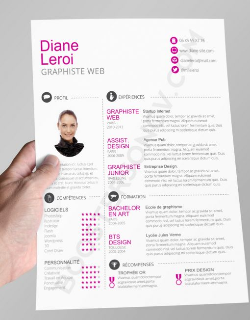best 25  exemple de cv original ideas on pinterest