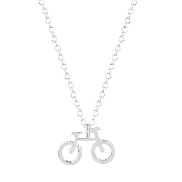 Collar bicicleta plata  #collarregalomujer #collarmujer