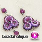 Tutorial - Videos: How to do Soutache Bead Embroidery: Part 7: How to Finish a Soutache Pair of Earrings | Beadaholique