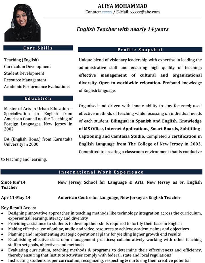 eanglish teachers CV-ის სურათის შედეგი Downloads