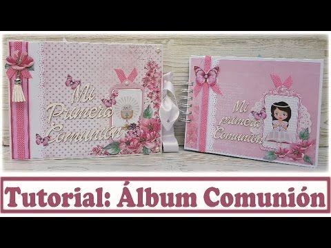 Scrapbooking Tutorial Álbum Comunión con Kora Projects