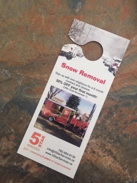 We're offering a snow removal deal in and around Edmonton until November 1st! Sign up with your neighbour for six months of snow removal and receive 50% off your first month! Winter is inevitable in Edmonton, why not get a head start with a deal?! Call or email today to schedule your snow removal service!