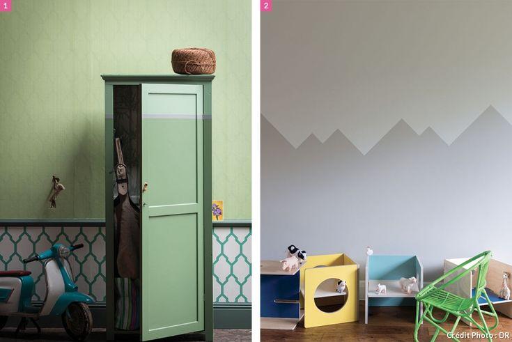 les 78 meilleures images du tableau murs walls sur With nice couleur papier peint tendance 4 nouveaux papiers peints les animaux decorent les murs