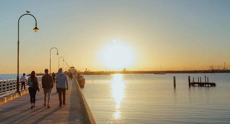 Summer in Melbourne, Australia. St Kilda Pier.