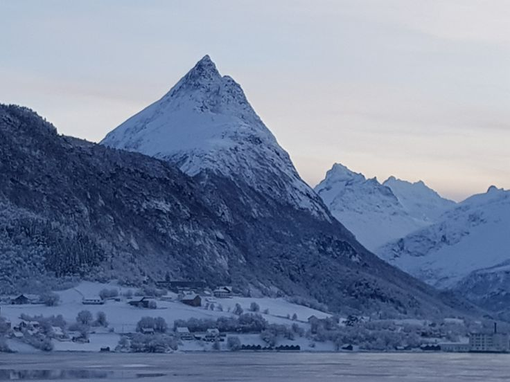 A very special cone shaped mountain in Norway