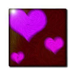 """3 of Purple Hearts - 12 Inch Ceramic Tile by Yves Creations. $22.99. High gloss finish. Construction grade. Floor installation not recommended.. Clean with mild detergent. Image applied to the top surface. Dimensions: 12"""" H x 12"""" W x 1/4"""" D. 3 of Purple Hearts Tile is great for a backsplash, countertop or as an accent. This commercial quality construction grade tile has a high gloss finish. The image is applied to the top surface and can be cleaned with a mild det..."""
