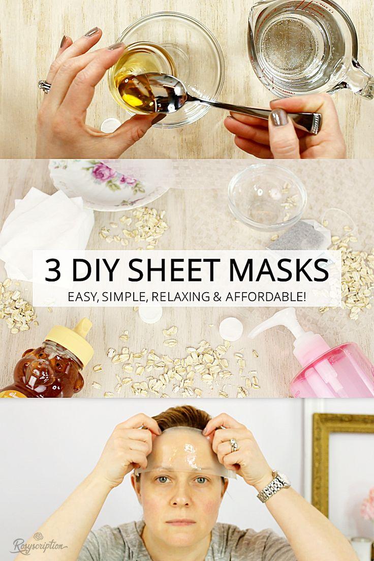 3 easy DIY sheet mask ideas.
