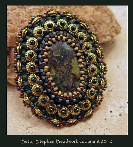 Betty Stephan Bead Embroidery Cab