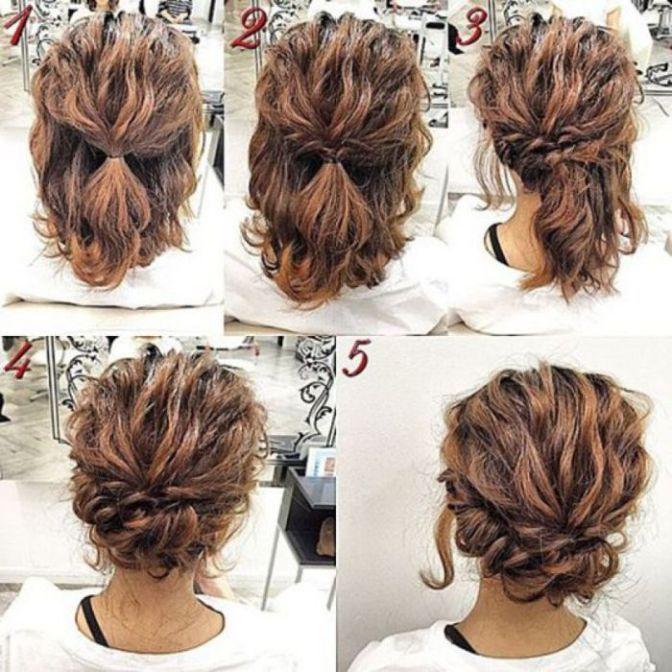 Cute Simple Hairstyles For Shoulder Length Hair Simple Prom Hair Short Hair Tutorial Hair Styles