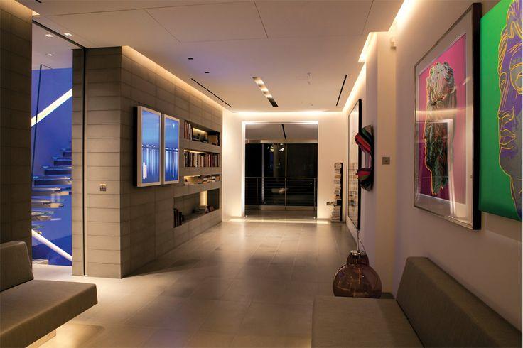 Kensington Apartment | architecture discourse with art | concealed lighting details | designed by Zoumboulakis Architects #architecture #interior_design #art #apartments #ek_magazine