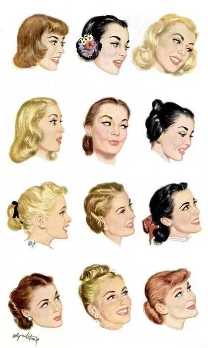 1950s Hairstyles 1950 Pinterest 1950s Hairstyles, Christmas Hair ...