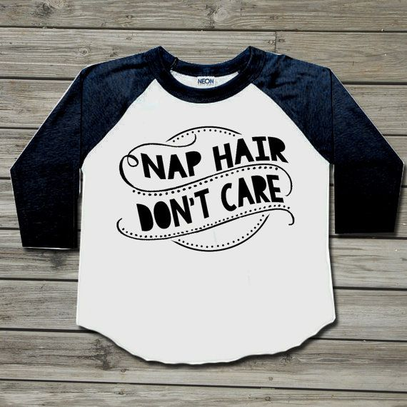 Nap Hair Don't Care. Baby boy clothes. Boy toddler by PressThreads