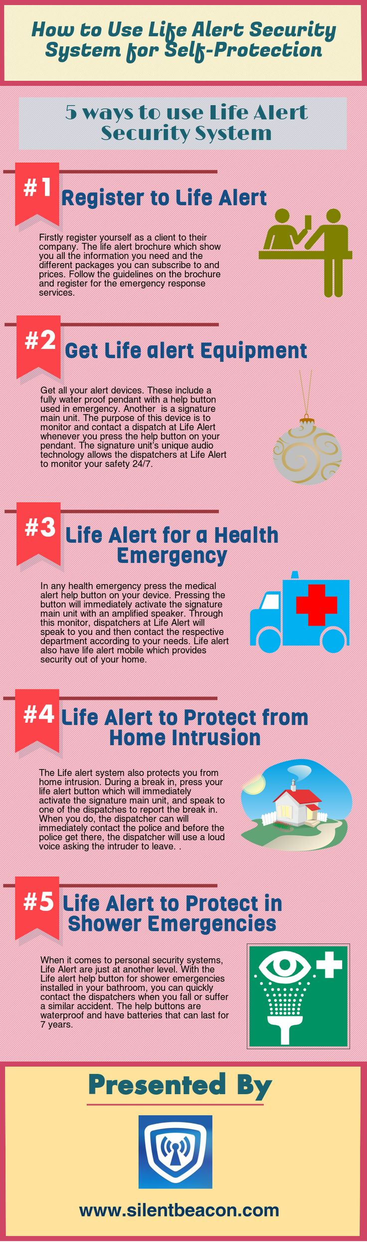 Life Alert is an emergency alert company that provides 24/7 emergency response. With their unique personal security systems and innovative audio technology, Life Alert is able to monitor clients, effectively and notify authorities in case of any emergency. #lifealert #silentbeacon #personalsafetydevice