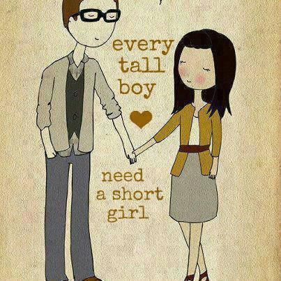 Tall girl and short boy dating