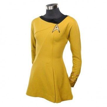 Star Trek Cosplay Female Duty Uniform Gold Dress Costumes Free Shipping Worldwide sales $ 69