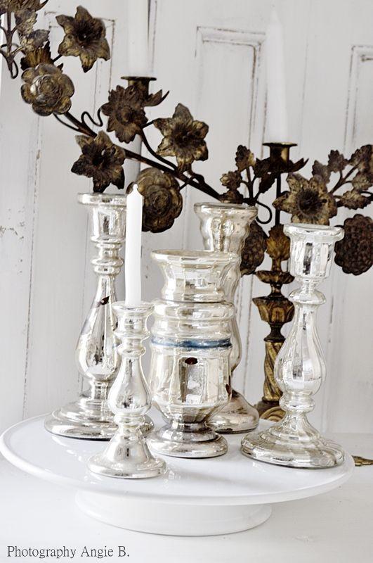 262 best Mercury Glass images on Pinterest | Mercury glass ...