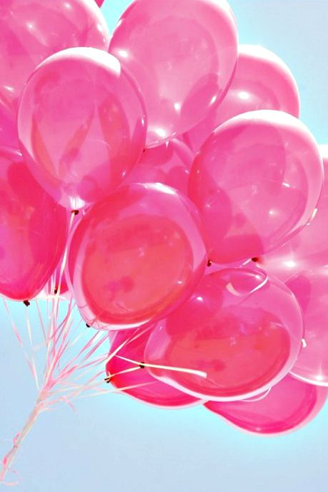 Pink and gold balloons everywhere