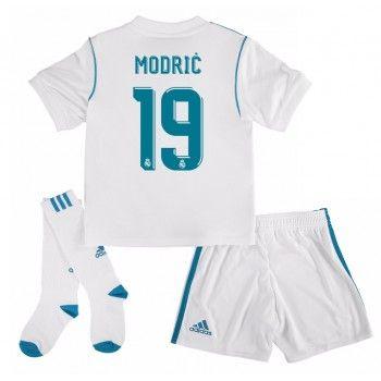 Real Madrid Luka Modric 19 kläder Barn 17-18 Hemmatröja Kortärmad  #Billiga #fotbollströjor
