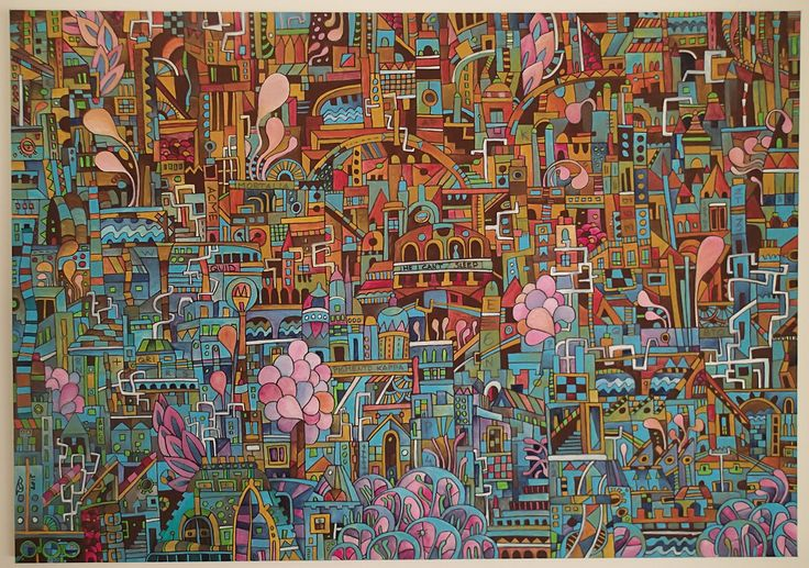 """""""he can't sleep"""" acrylics on canvas 100x70 cm 2015"""