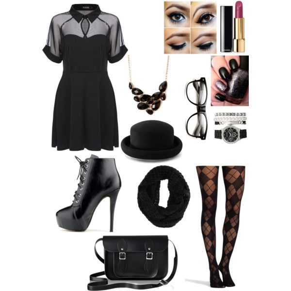 A fashion look from December 2014 featuring skater dress, nylon stockings and high heel boots. Follow me @serena-blackbeauty