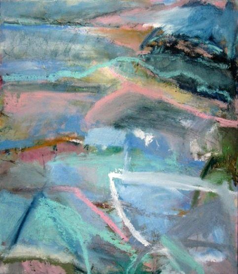 'Coastal Forms', Janine Baldwin, oil on panel, 52 x 45cm  www.janinebaldwin.co.uk