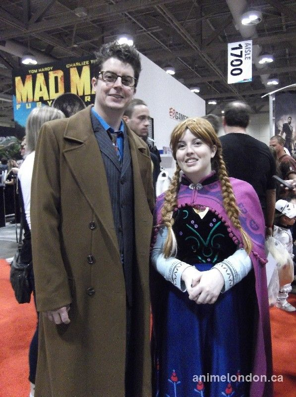 the Doctor - Doctor Who and Anna - Frozen #FanExpo2015 #cosplay
