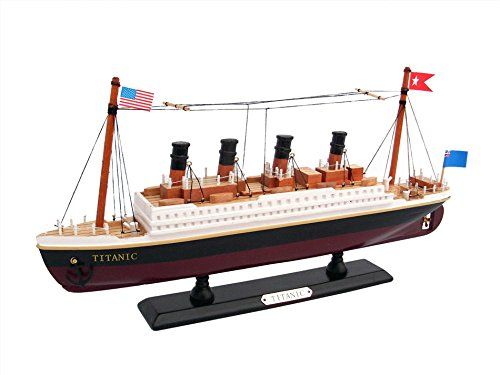 Pre-Built Model Watercraft - Titanic 14 Model Cruiseship  Already Built Not a Kit  Wooden Ship Model Cruise Ship Replica Scale Model Boat Nautical Home Beach Wall Dcor or Gift  Sold Fully Assembled *** Read more at the image link.