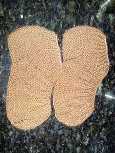 Tricotando com a Kah: Sapatinho em tricô para Adulto...