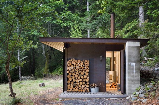 One Room Metal Cabin is a Cozy Island Retreat - Sustainable Simplicity
