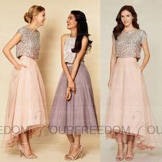 Dress 2016 Modern Bridesmaid Dresses Jewel Neck Bodice With Beading Hi Lo Wedding Party Gowns Custom Made Maid Of Honor Dresses Wedding Dresses Bridesmaid Dresses From Ourfreedom, $97.93| Dhgate.Com