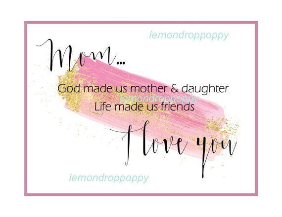 Mom art print download mom birthday gift by lemondroppoppy on Etsy