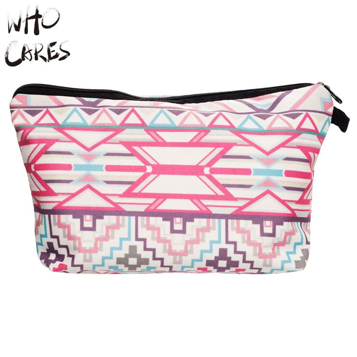 Who Cares Women Aztec Portable Type Make up Bags Cosmetic Bag Maleta de Maquiagem Bags & Cases Storage Travel Makeup Bags Brand