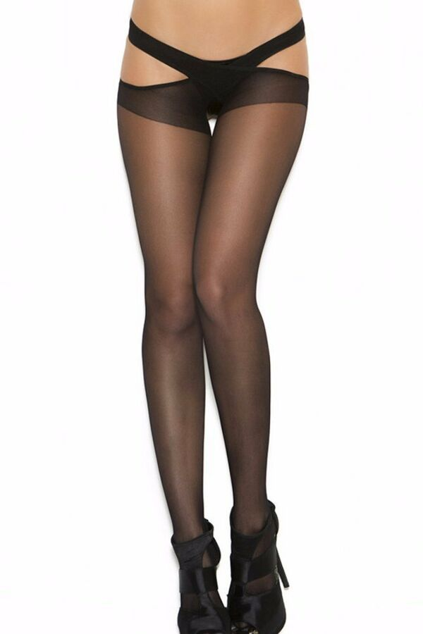 33c1f5dfe23 Black Suspender Pantyhose Criss-Cross Hosiery Stocking Hose Sheer Backless  Women 840295109565 eBay Criss Cross Hosiery