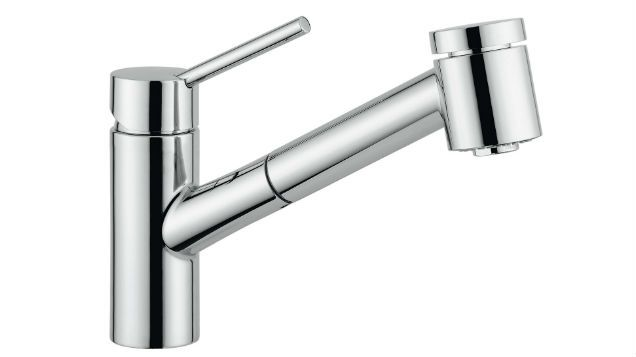 Featuring an extractable shower style head and a premium chrome finish, the European designed and made Pyramis PT500 tap compliments any kitchen design.