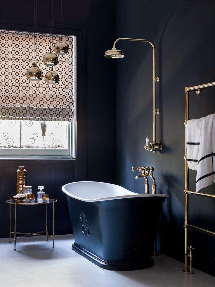 Best 25 Dark Blue Bathrooms Ideas On Pinterest Dark