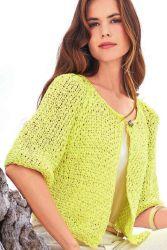 Схема вязания: Лимонно-желтый жакет | Пуловеры спицами - petelka.net