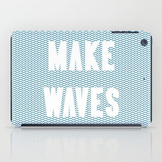 Make Waves iPad Case by Fimbis | Society6  water, wavy, ocean, nautical, sailing, sailor, sea, ocean, summer, beach, iPad Mini, fashion,