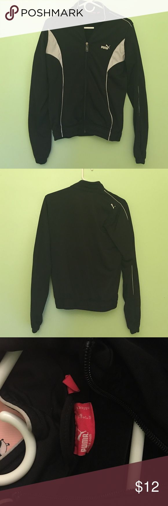 Puma Sports Jacket Black and white Puma Sports jacket. Worn a few times! Size M but can fit a small Puma Jackets & Coats