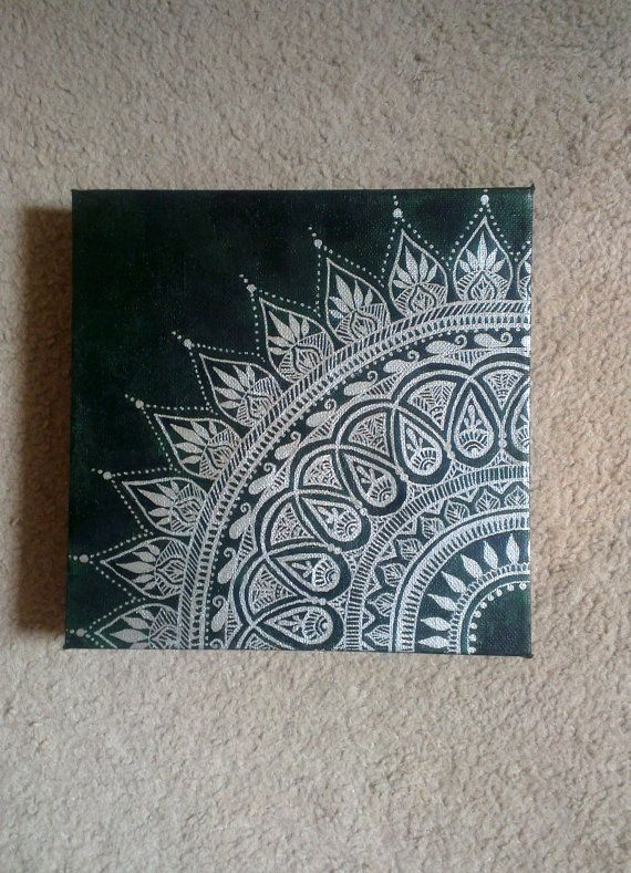 Mandala art: really cool, could swap background colour to silver or black or blue?
