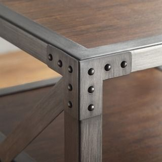 INSPIRE Q Sedgwick Vintage Industrial Modern Metal Bracket End Table - Overstock™ Shopping - Great Deals on INSPIRE Q Coffee, Sofa & End Tables