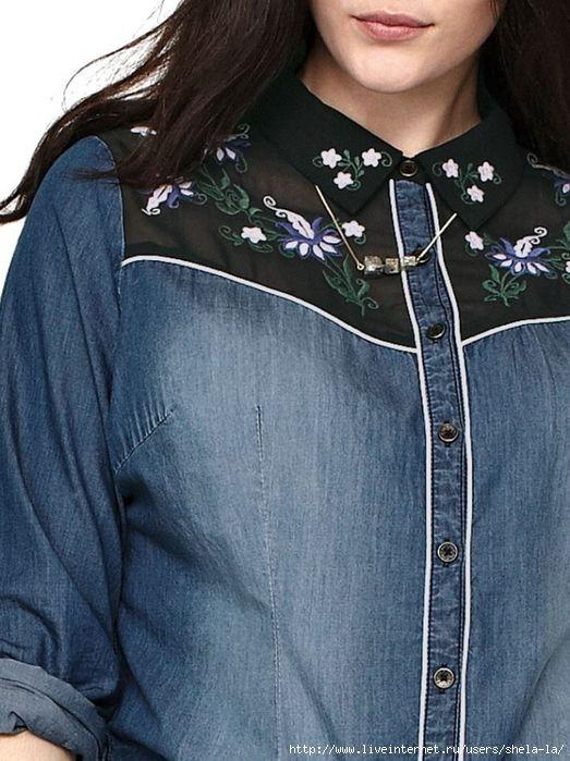 Джинсовые рубашки - идеи для переделки (подборка) / Рубашки /. Обсуждение на LiveInternet - Российский Сервис Онлайн-Дневников