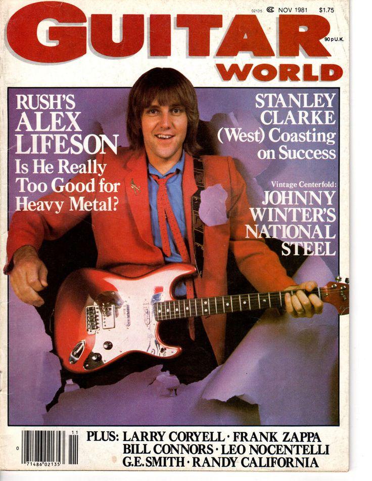 guitar world #magazine november 1981 alex lifeson rush from $14.99