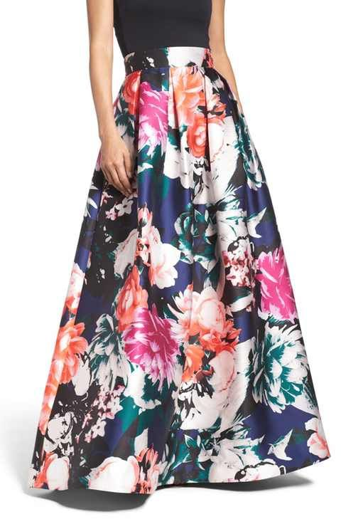 Eliza J Floral Ball Skirt